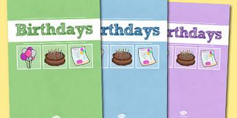 A4 Birthdays Divider Covers-birthdays, divider covers, A4 divider covers, birthday themed, themed divider covers, A4, covers, dividers