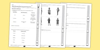 Year 5 Animals Including Humans End of Unit Assessment - puberty, hypothalamus, pituitary, old age, asexual, sexual, reproduction, gestation period, infancy, adulthood, human, timeline, growth chart