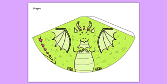 Dragon Cone Character - dragon, cone character, activity, craft, fantasy