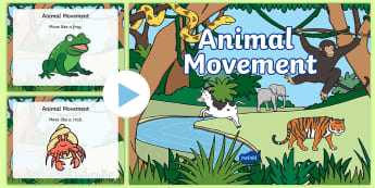CfE Early Level Animal Movement Activity PowerPoint Pack - gym, p.e, games, sports, resources, ideas, ,Scottish
