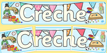 Creche Display Banner - creche, display, banner, display banner