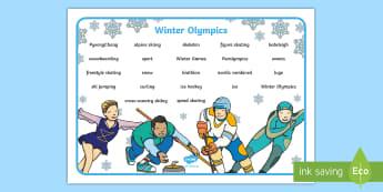 Winter Olympics 2014 Word Mat - winter, olympic, wordmat, keyword