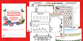 Christmas Activity Book English/Polish - Christmas Activity Book - christmas, activity, book, holiday, christmas activity, chritmas, chriatma