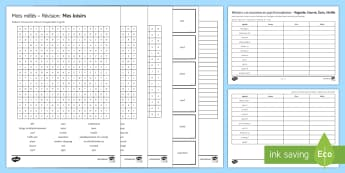 Home Town and Neighbourhood Activity Sheets French - Secondary, 15 Minute Revision Activities, French, GCSE
