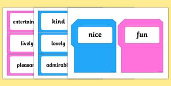 Alternative Words Pockets - alternative words, words, different words, alternative, word pockets, pockets, word pairs, writing aid, writing template, write