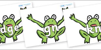 Silent Letters on Frogs - Silent Letters, silent letter, letter blend, consonant, consonants, digraph, trigraph, A-Z letters, literacy, alphabet, letters, alternative sounds