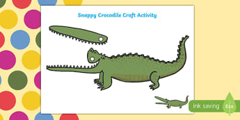 Snappy Crocodile Craft Activity to Support Teaching on The Enormous Crocodile