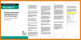 Teacher Assessment Frameworks at the End of KS2 Adult Guidance - teacher judgements, marking, assessments, y6, end of key stage