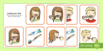 Brushing Your Teeth Sequencing Cards - brush, brushing teeth, teeth, sequence, sequencing cards, cards