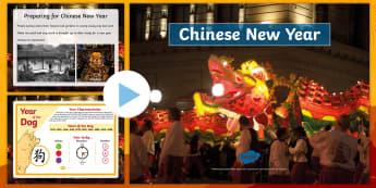 KS2 Chinese New Year Assembly PowerPoint - Celebration, Festival, Around The World, China, Chinatown