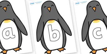 Phoneme Set on Penguins - Phoneme set, phonemes, phoneme, Letters and Sounds, DfES, display, Phase 1, Phase 2, Phase 3, Phase 5, Foundation, Literacy