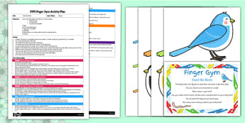 EYFS Feed the Birds Finger Gym Plan and Resource Pack - Spring, EYFS,