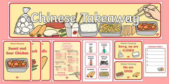 Chinese Take Away Role Play Pack - ESL Chinese Takeaway Role Play