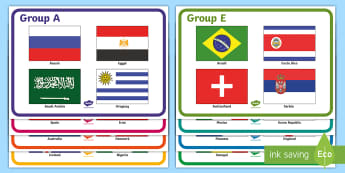 world cup 2018 group Poster - World cup 2018 Group Poster - football, sports, display, pe, fifa, worldcup