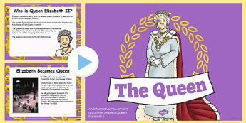 Queen Elizabeth ll PowerPoint - queen, elizabeth II, powerpoint