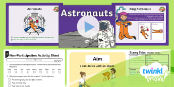 Twinkl Move - Year 1 Dance: Starry Skies Lesson 3 - Astronauts - Dance Starry Skies, Dance, Movement, Exercise, Key Stage 1, Year 1, PE, KS1, Y1, Astronauts, Space,