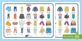 Mat Geiriau Dillad  - word, mat, clothes, dillad, mar, geiriau, allweddol,Welsh