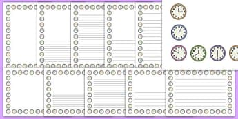 Clock Shop Page Border Pack - clock shop, role play, clock, shop, roleplay, page border, pack