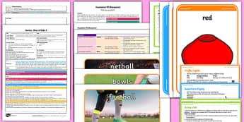 Foundation PE (Reception) - Games - Best of Balls Lesson pack 4: Rackets Bats Sticks and Balls - EYFS, PE, Physical Development, Planning