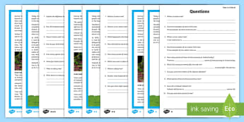 The Trees of Ireland Differentiated Reading Comprehension Activity - fact file, non-fiction, questions, facts, information, species, nature, text