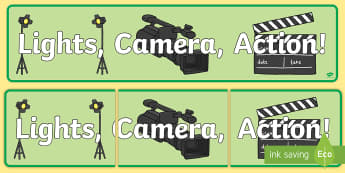 Lights Camera Action Role Play Banner-lights camera action, role play, banner, role play banner, banner for role play, film studio, film