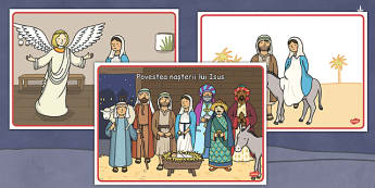 Povestea Crăciunului - Planșe - poveste, crăciun, planșe, imagini, nașerea Domnului, iarnă, materiale didactice, română, romana, material, material didactic