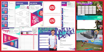 Sport Relief 2018 Primary Resource Pack - sport relief, fund raising, sport, raise money, step challenge,