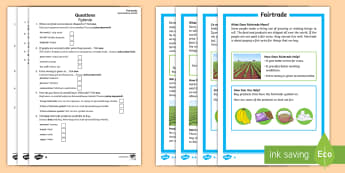 Fairtrade Differentiated Reading Comprehension Activity English/Polish - KS1, Key Stage 1, Key Stage One, Year 1, Year 2, Reading Comprehension, Fact File, Differentiated, R