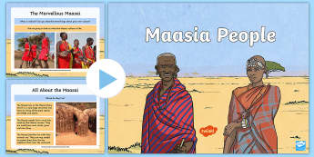 Maasai People Information PowerPoint - safari, kenya, tanzania, tribe, jumping dance,
