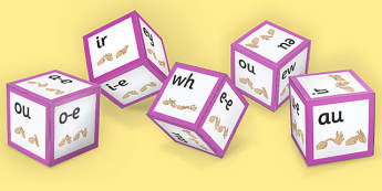 Phase 5 Alphabet Sound Dice Net with British Sign Language - phase 5