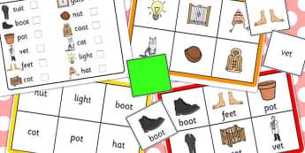 Final T Sound Bingo - final, t, sound, bingo, game, activity