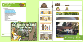 Goldilocks and the Three Bears Storytelling Basket - EYFS, story, reading, literacy, books, reading area, reading buddies, story props