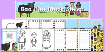 Baa Baa Black Sheep Resource Pack