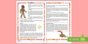 My Place in the World Songlines Differentiated Reading Comprehension Activity - Australia, HASS, ACHASSK048, Geography, place names, scene of place, Australia, place, Year 2, Earth