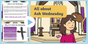 Ash Wednesday CfE First Level PowerPoint - Lent, Easter, RME, Christian, Christianity, Practices and Traditions, RME 1-03b
