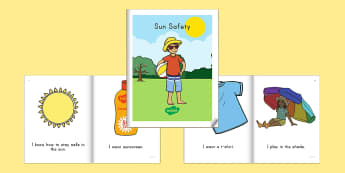 Sun Safety Emergent Reader eBook - Emergent reader, ebook, sun safety, summer safety, personal safety, sun safety ebook, sun safety eme