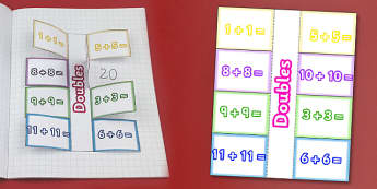 Doubling Numbers Interactive Visual Aids - numeracy, double, Double, addition, interactive