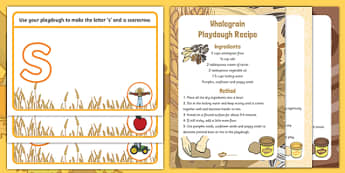 Harvest and Farm Themed Phase 2 Phonics Playdough Recipe and Mat Pack