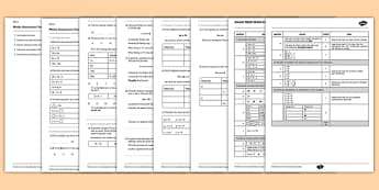 Year 6 Maths Assessment: Algebra Term 1 - maths, assessment, algebra, Autumn Term Maths Assessment
