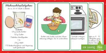 Weihnachtsplätzchen Rezept - DE EYFS Christmas, Weihnachten, Rezept, recipe, Plätzchen, buiscuit, baking, backen