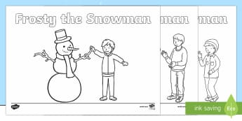 Frosty the Snowman Colouring Pages - Priority Resources, colouring, snowman, wet playtime, Christmas