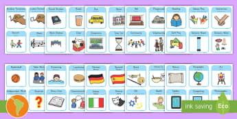 Visual Timetable for School US English/Spanish (Latin) - sen visual timetable, school visual timetable, simple visual timetable, sen visual timetable cards,