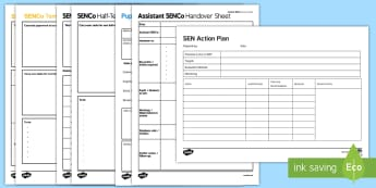 SEN Action Plan Template Adult Guidance  - senco, plan, template, staff, support, sen, send