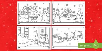 Christmas Colouring Place Mats  - Key Stage One, KS1, EYFS, Festive, Reindeer, Christmas Tree, Decoration, Place settings,