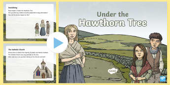 Context of the Novel PowerPoint to Support Teaching on Under the Hawthorn Tree - stories, novel, comprehension, reading, English, vocabulary work, Irish famine, famine, author's co