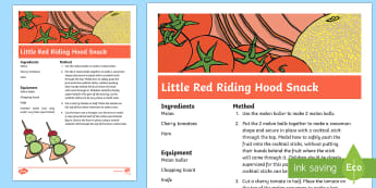 Little Red Riding Hood Recipe - Little Red Riding Hood, melon, ham, food, cookery, cooking,