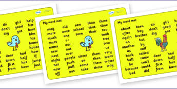 My Word Mat KS1 For Visually Impaired - word, map, word map, KS1, visually, impaired, visually impaired, literacy, reading, mat of words