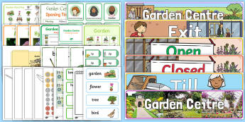Role Play Garden Centre - EYFS, Early years, EAD, BI, planting, plants, growing, living processes, Understanding the world, UTW, spring, summer