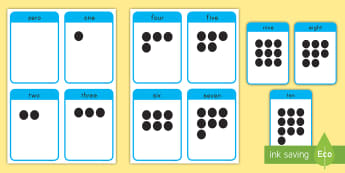 0 to 10 Number Flashcards - math, flashcards, 0-10, number recognition