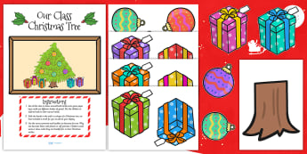 Our Class Christmas Tree Pack - christmas tree, pack, display